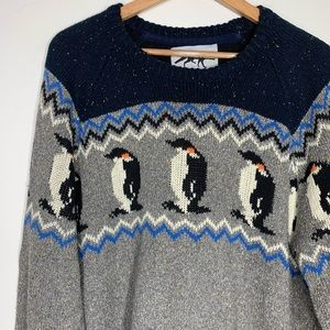 Urban Outfitters • penguin pattern knit sweater